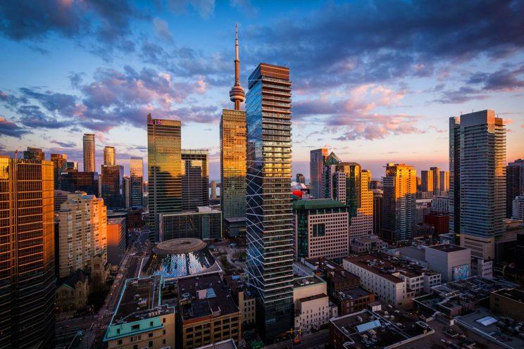 Toronto landscape building view