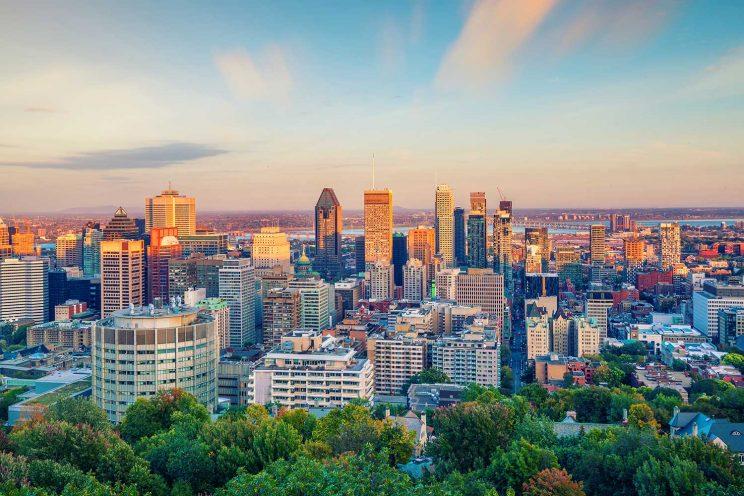 Montreal landscape view