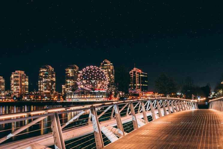 Vancouver view at night
