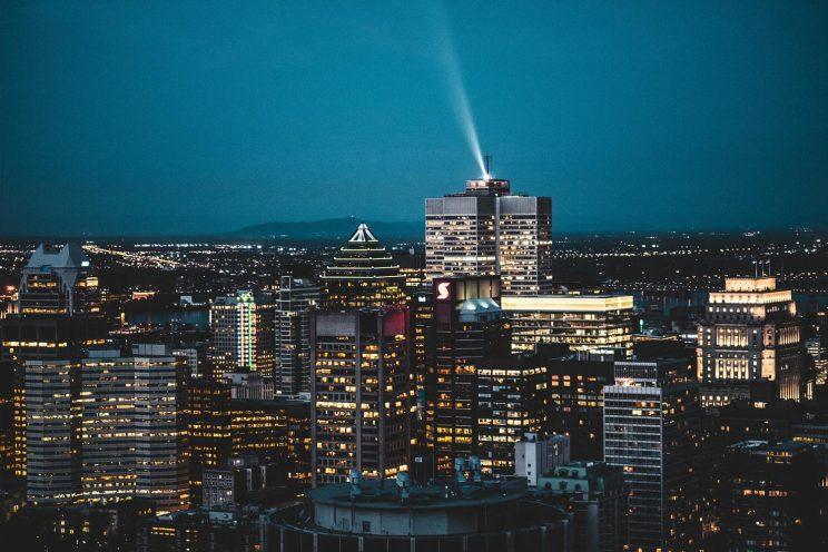 Montreal view at night