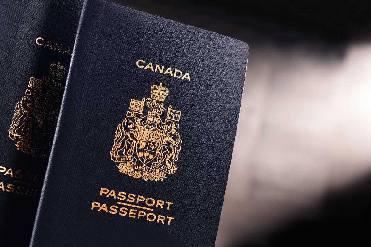 Canadian passport closeup
