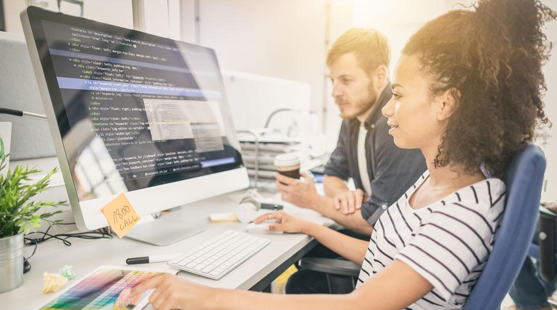 programmer team working